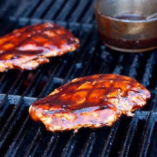 Grilled Chicken with Balsamic Barbecue Sauce.