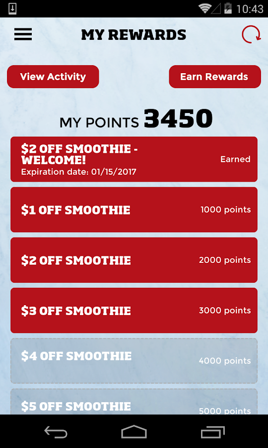 Smoothie King Rewards- screenshot