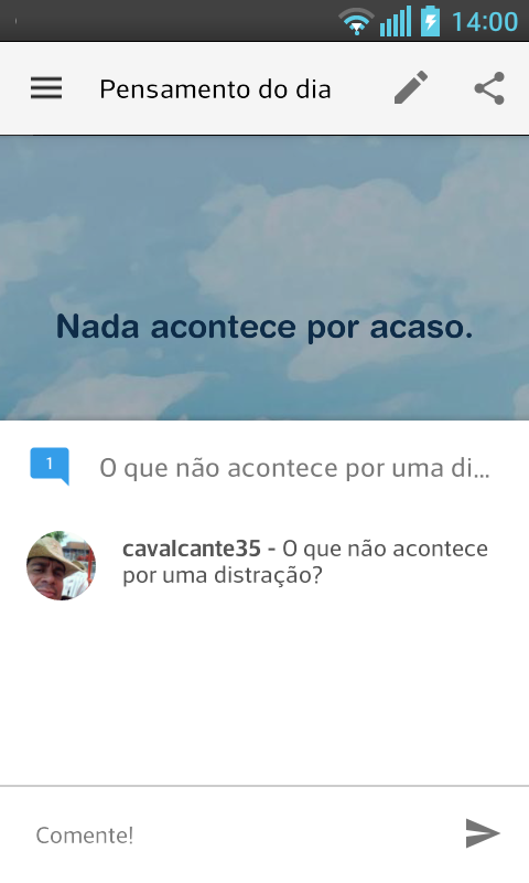 Pensamento do dia- screenshot