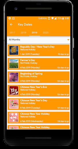 Taiwan Kalender - Holiday & Note (Kalender 2020) Screenshots 8