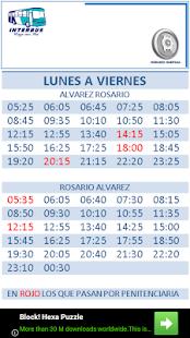 Horarios Interbus - náhled