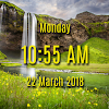 Waterfall digital clock live wallpaper APK Icon