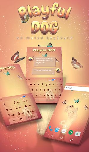 Playful Dog Animated Keyboard + Live Wallpaper 3.33 screenshots 1