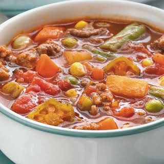 Beefy Vegetable Soup.