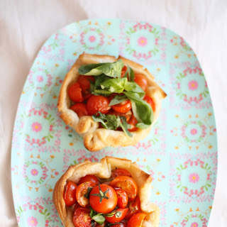 Tomato Basil Tartlets For Two