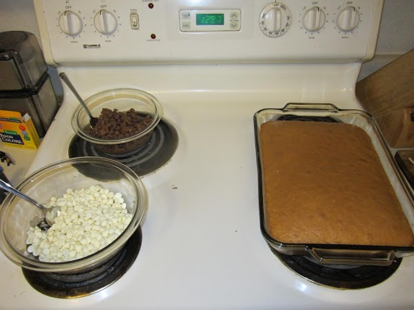 Grab chunks of the cake by the handful and crumble it into a large...