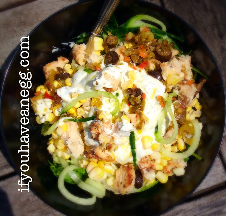 Greek Grilled Chicken Salad Zoodles Version – 7 Weight Watchers Smart Points Value Recipe