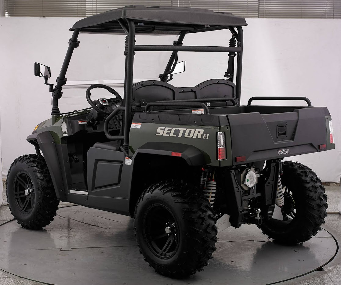Electric 48 Volt Battery Operated E1 gt sector farm ute utv crossfire hisun vector HS450UTV agricultural machinery sale cheap offroad 4wd 4x4