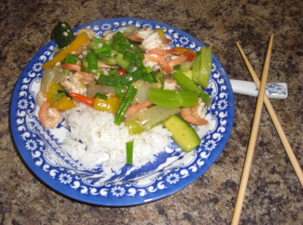 Stir Fry Shrimp With Clear Sauce Recipe