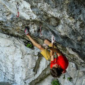 plezalec by Janez Žalig - Sports & Fitness Climbing ( previs vponka varnost počitek oprimek )
