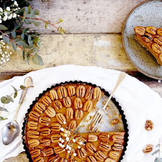 Salted Caramel, Pecan, and Sweet Potato Pie