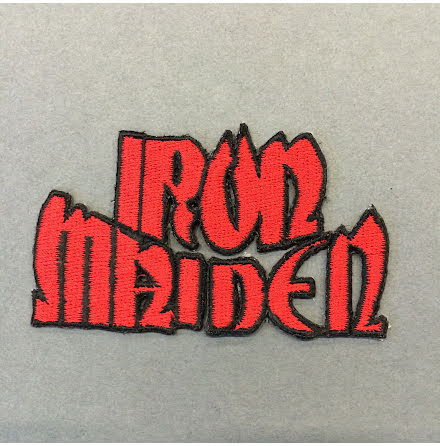 Iron Maiden - Röd Logo - Tygmärke