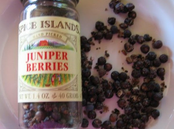 Add white wine and juniper berries, salt and pepper and simmer for about 30...