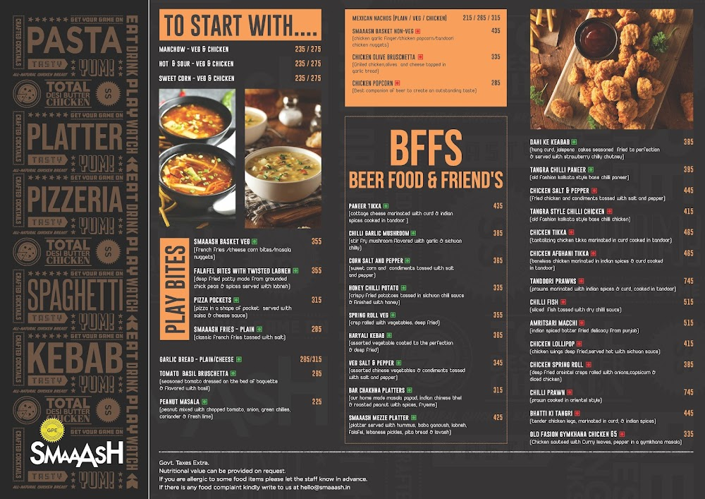Gurgaon Pub Exchange menu 2