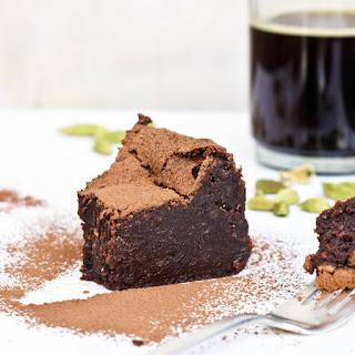 Chocolate Truffle Cake with Cardamom and Espresso.