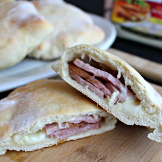 Homemade Ham and Cheese Pocket Sandwiches.