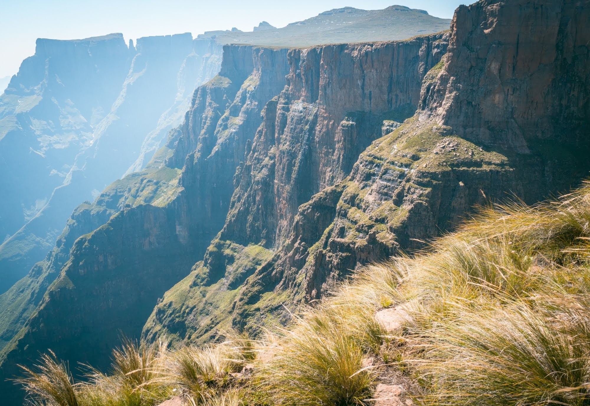 The plateau called the Amphitheatre, part of the majestic Drakensberg Mountain between South Africa and Lesotho.
