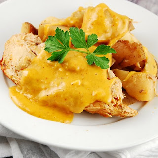 Slow Cooker Cheesy Chicken Breasts.