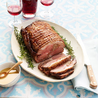 Lamb Roast with Mustard Pan Sauce