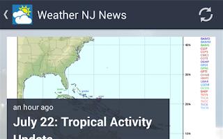Screenshot of Weather NJ