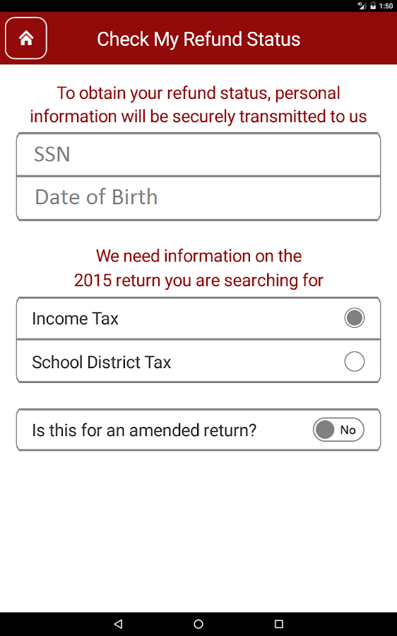 Ohio Taxes- screenshot