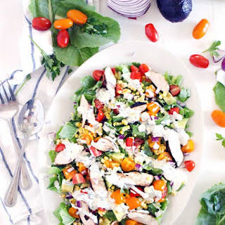 Lightened-Up Cobb Salad with Buttermilk Ranch Dressing.