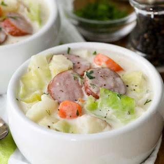 Sausage & Cabbage Soup.