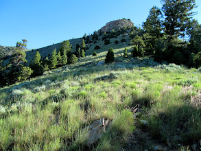 Photo: Climbing up a ridge