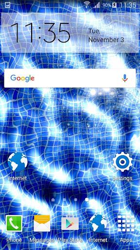 水中携帯電話の画面効果