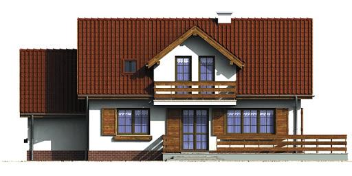 Dom przy Modrzewiowej 2 - Elewacja tylna