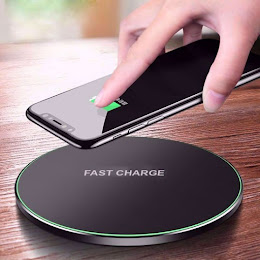 Incarcator Wireless Fast Charging Pad QI, Round Black