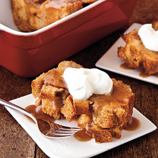 Bread Pudding with Salted Caramel Sauce.