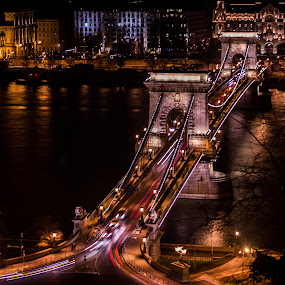Budapest by Máté Csöbönyei - City,  Street & Park  Night (  )