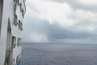 Photo: Approaching rain storm (the white part on the ocean)