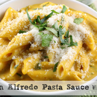 Pumpkin Alfredo Sauce with Rosemary and Sage.
