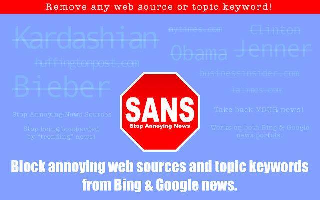 SANS - Stop Annoying News