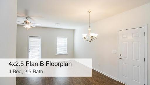 4x2 5 Plan B Floorplan 4 Bed 2 5 Bath Sweetwater Commons