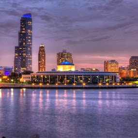 Shedd in Chicago by Ted Anderson - City,  Street & Park  Historic Districts ( hdr, water front, shedd, museum, historic )