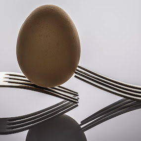 egg on top by Ricardo Marques - Artistic Objects Cups, Plates & Utensils ( fork, beaytiful, creative, nice, egg, kitchen utensil, silverware, cutlery, Food & Beverage, meal, Eat & Drink )