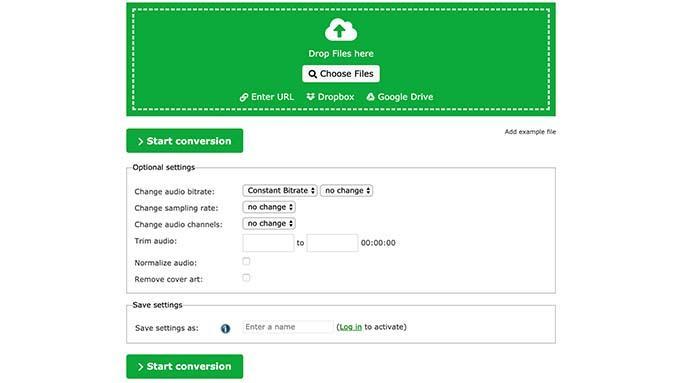 online converter for audio files