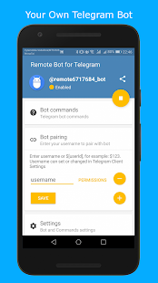 Remote Bot for Telegram - náhled