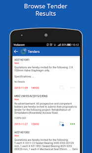 Online Tenders- screenshot thumbnail