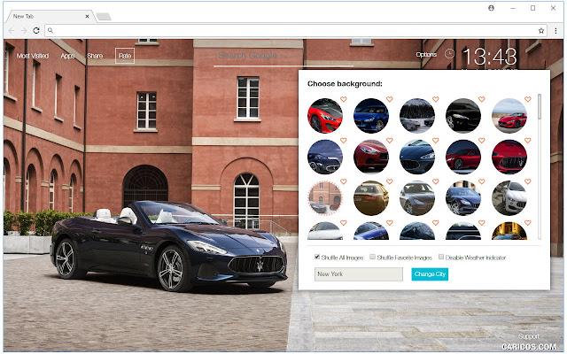 Maserati Cars Wallpapers HD Luxury Car NewTab