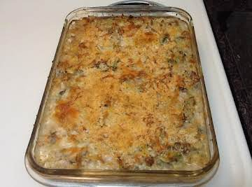Creamy Ground Turkey Noodle Casserole