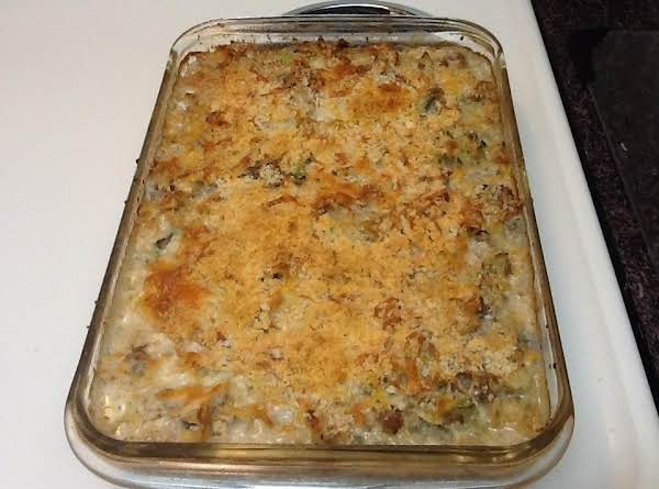 Creamy Ground Turkey Noodle Casserole Recipe
