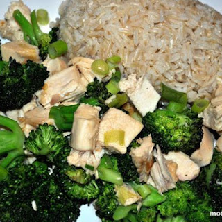 Asian Chicken and Broccoli With Chili Garlic Sauce.