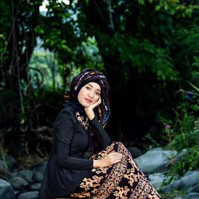 Hijab Etnic by Achmad Sutanto - People Portraits of Women ( #etnic, #kaintenun, #hijab )