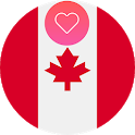 Canada Dating App and Canadian Chat Free icon