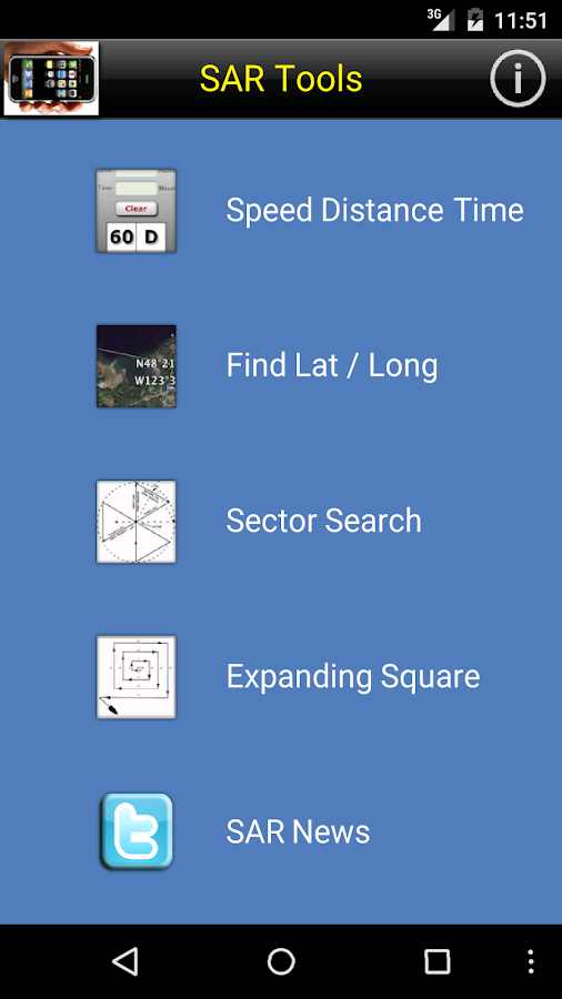 Search and Rescue - SAR Tools – Screenshot