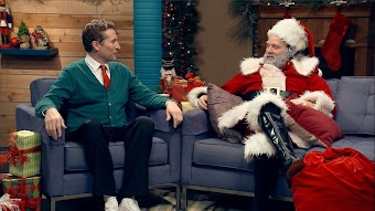 Zach Galifianakis Wears a Santa Suit
